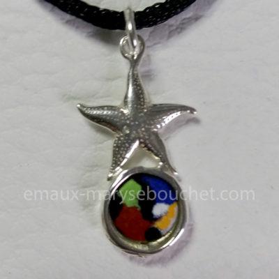 Pendentif étoile de mer argent 925 – Réf 1571
