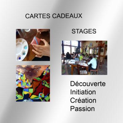 Cartes cadeaux stages